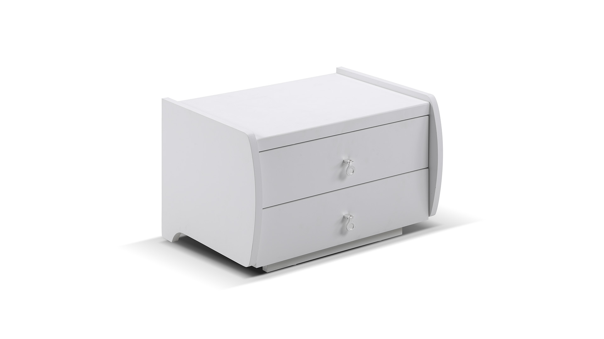 <p>Material:</p><p>*Solid wood+MDF board+white high glossy</p><p><br/></p><p>Size:</p><p>*550*400*360mm</p><p><br/></p><p>Number of drawers:</p><p>*2 Drawers</p>